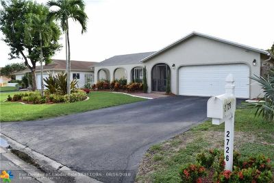 Coral Springs Single Family Home For Sale: 2726 NW 98th Ter