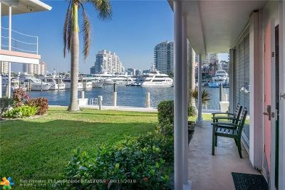 Fort Lauderdale Condo/Townhouse For Sale: 2740 Yacht Club Blvd #9A