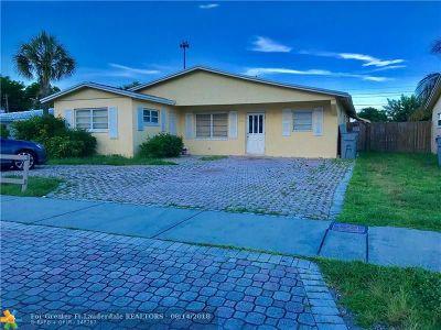 Pompano Beach Single Family Home For Sale: 3734 NE 18th Ave