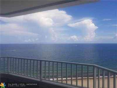 Pompano Beach Condo/Townhouse For Sale: 1340 S Ocean Blvd #1608