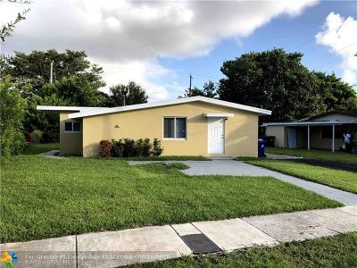 Fort Lauderdale Single Family Home For Sale: 1611 NW 16th St
