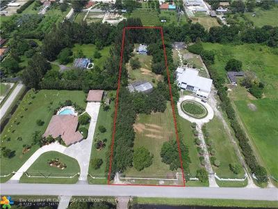 Southwest Ranches Residential Lots & Land For Sale: 13451 Mustang Trl