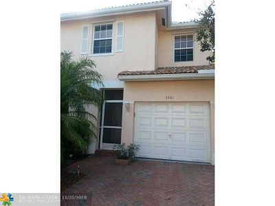 Sunrise Condo/Townhouse For Sale: 3991 NW 91st Ter #3991