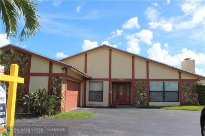 Lauderhill Single Family Home For Sale: 7480 NW 37th Ct