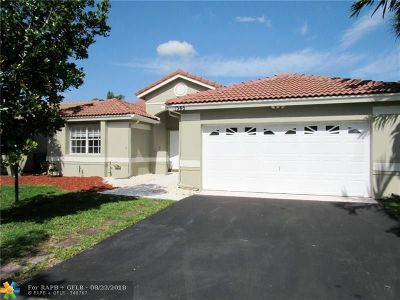 Sunrise Single Family Home For Sale: 1345 NW 129th Way
