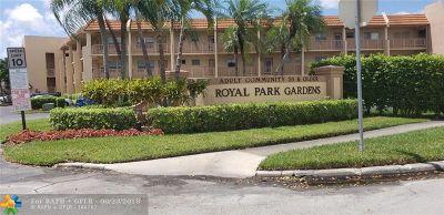 Margate Condo/Townhouse For Sale: 6570 Royal Palm Blvd #205 J