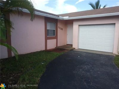 Sunrise Single Family Home For Sale: 11130 NW 26th St