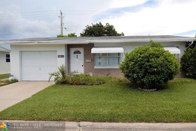 Margate Single Family Home For Sale: 6835 NW 17th Ct