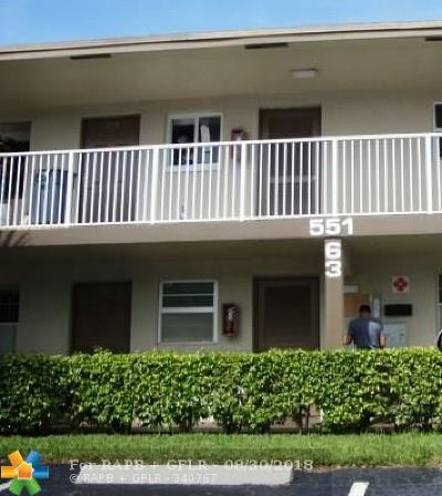 Margate Condo/Townhouse For Sale: 551 NW 80th Ter #104