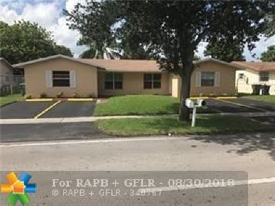 Lauderhill Multi Family Home For Sale: 5881-5885 NW 19th St