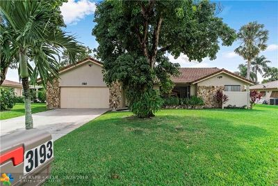 Coral Springs Single Family Home For Sale: 3193 NW 114th Ave