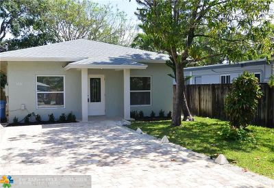 Oakland Park Single Family Home For Sale: 1534 NE 33rd St