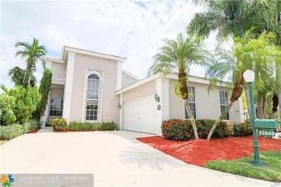 Boca Raton Single Family Home For Sale: 22840 Harrow Wood Ct