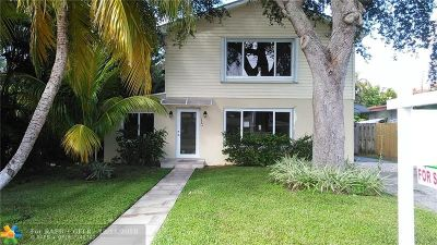 Fort Lauderdale Single Family Home For Sale: 1503 NE 18th Ave