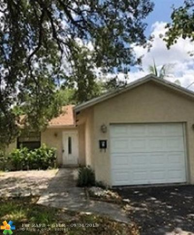 Oakland Park Single Family Home For Sale: 1400 NE 35th St