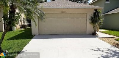 Coconut Creek Single Family Home For Sale: 3720 NW 23rd Pl