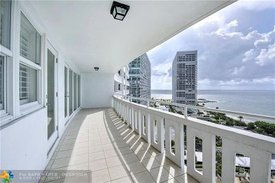 Fort Lauderdale Condo/Townhouse For Sale: 2000 S Ocean Dr #1206