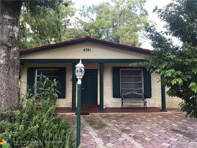 Oakland Park Single Family Home For Sale: 4321 NW 19th Ave