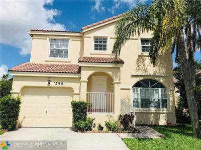 Pembroke Pines Single Family Home For Sale: 1395 NW 159th Ln