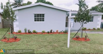 Sunrise Single Family Home For Sale: 6661 NW 24th Ct