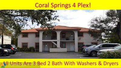 Coral Springs Multi Family Home Backup Contract-Call LA: 3501 NW 114th Ln