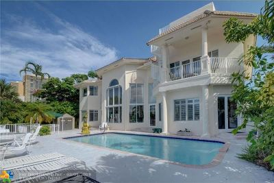 Fort Lauderdale Single Family Home For Sale: 7 Castle Harbor Is