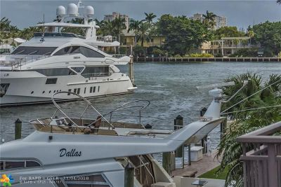 Fort Lauderdale Condo/Townhouse For Sale: 27 Port Side Dr #27D