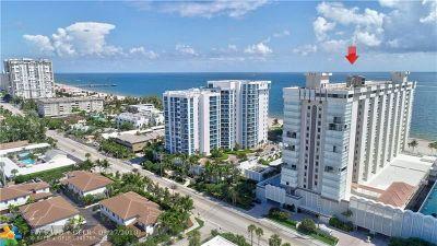 Pompano Beach Condo/Townhouse For Sale: 1000 S Ocean Blvd #5C