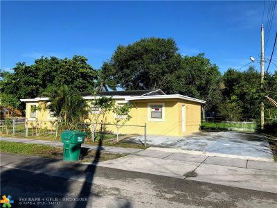 Fort Lauderdale FL Single Family Home For Sale: $169,000