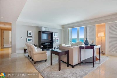 Condo/Townhouse For Sale: 1 N Fort Lauderdale Beach Blvd #1608
