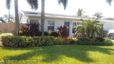 Pompano Beach Single Family Home For Sale: 1100 NE 24th St