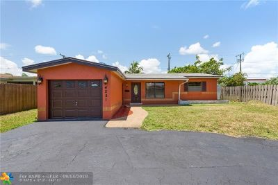 Broward County Single Family Home For Sale: 4221 NE 13th Ave