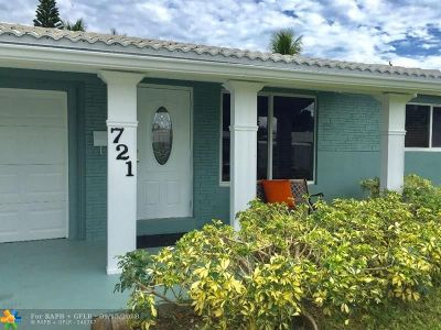 Oakland Park Single Family Home For Sale: 721 NE 47th Ct