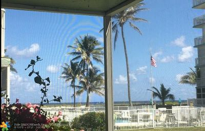 Lauderdale By The Sea Condo/Townhouse For Sale: 1750 S Ocean Blvd #104