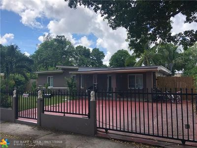 North Miami Single Family Home For Sale: 13890 NW 5th Pl