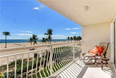 Fort Lauderdale Condo/Townhouse For Sale: 1710 S Ocean Ln #204