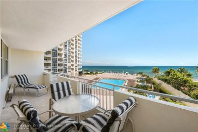 Condo/Townhouse For Sale: 3180 S Ocean Dr #316