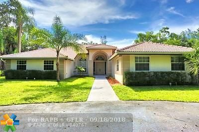 Coral Springs Single Family Home For Sale: 5101 Godfrey Rd
