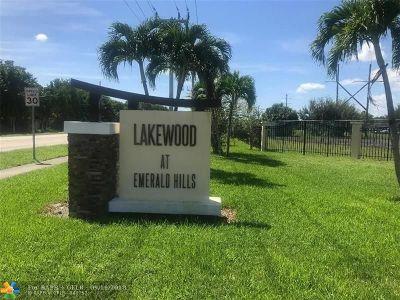 Broward County Condo/Townhouse Backup Contract-Call LA: 3650 N 56th Ave #511