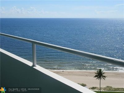 Lauderdale By The Sea Condo/Townhouse For Sale: 4050 N Ocean Dr #1702