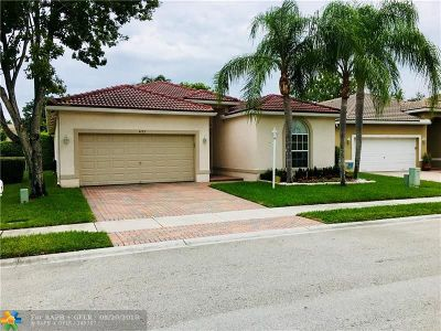 Coral Springs Single Family Home For Sale: 4722 NW 119th Ave