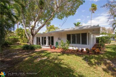 Pompano Beach Single Family Home For Sale: 1431 S Ocean Blvd