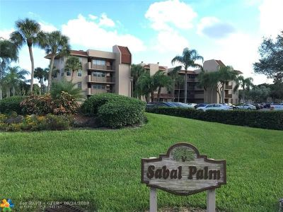 Davie Condo/Townhouse For Sale: 1830 Sabal Palm Dr #105