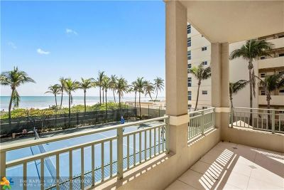 Hallandale Condo/Townhouse For Sale: 2080 S Ocean Dr #111