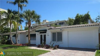 Lauderdale By The Sea Single Family Home For Sale: 2160 Coral Reef Dr