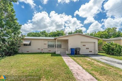 Lauderdale Lakes Single Family Home For Sale: 3188 NW 41 St