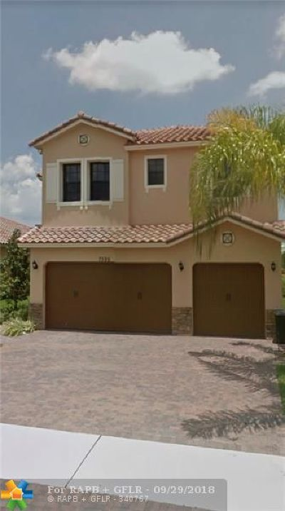 Parkland Single Family Home Backup Contract-Call LA: 7595 NW 111th Mnr