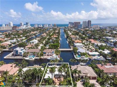 Las Olas Isles Single Family Home For Sale: 100 Royal Palm Dr