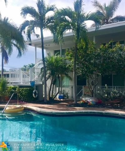 Fort Lauderdale Rental For Rent: 822 NE 18th Ave #1