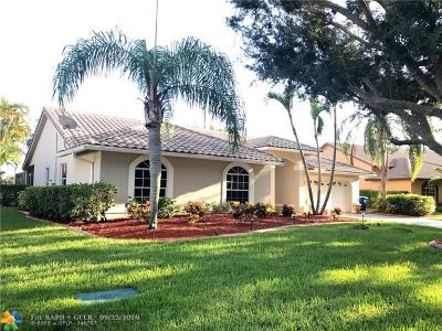Coral Springs Single Family Home For Sale: 10470 NW 48th Pl